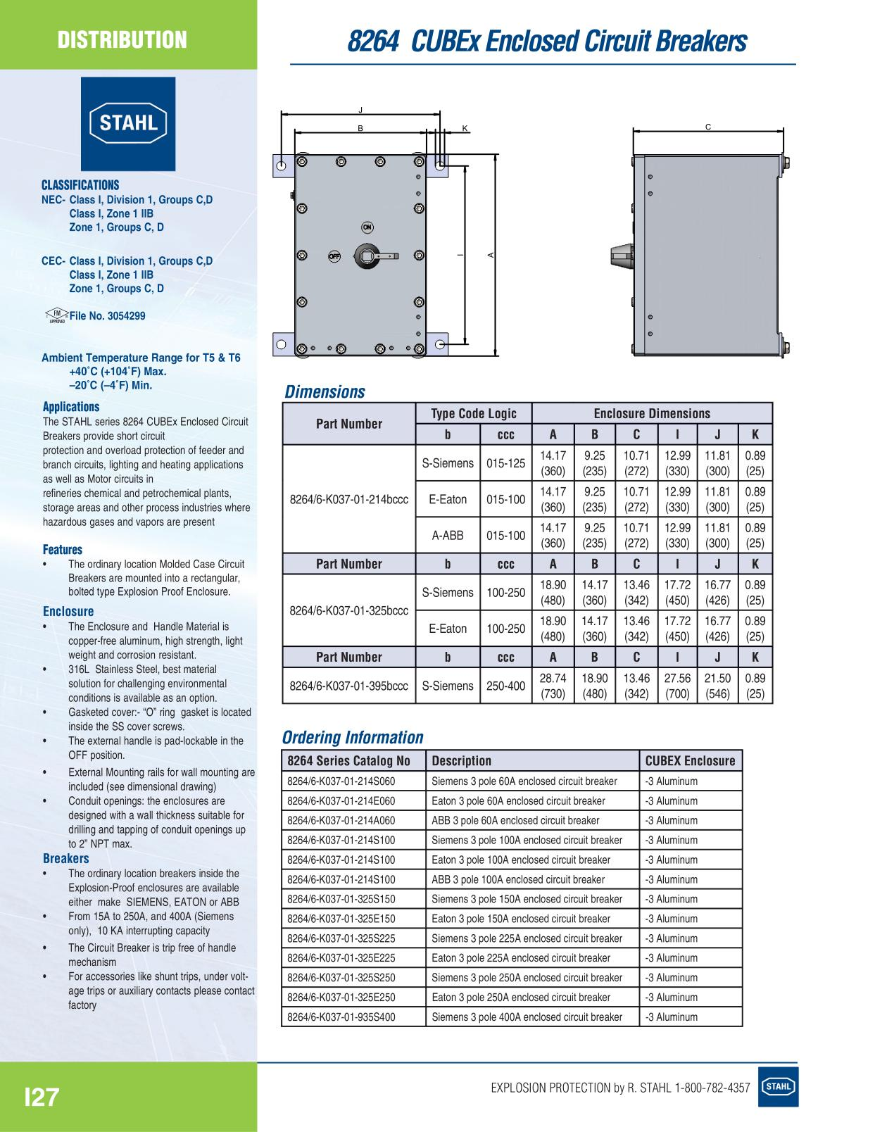 R Stahl Electrical Catalog 9016 - Page I27 Distribution